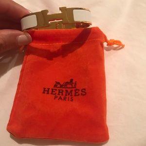 H Clic Clac Bracelet White Gold Classic